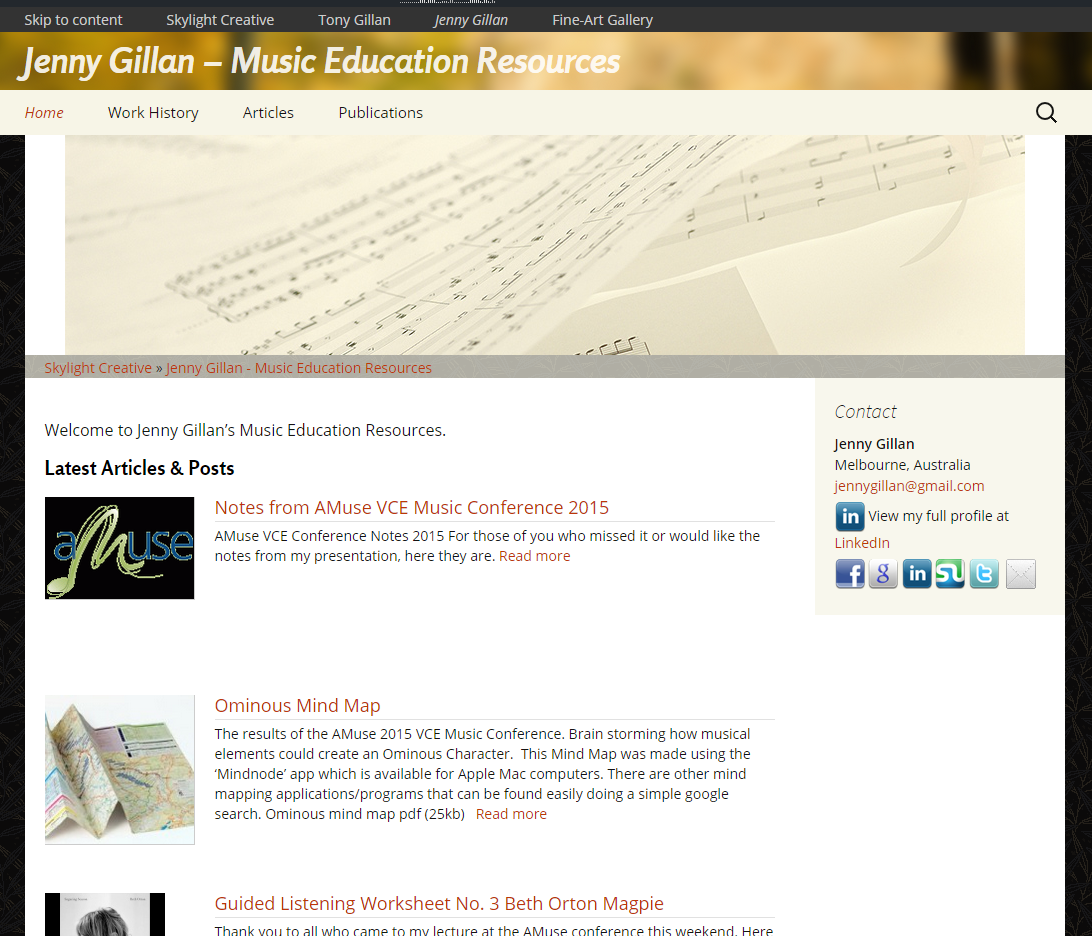 Jenny Gillan - Music Education Resources