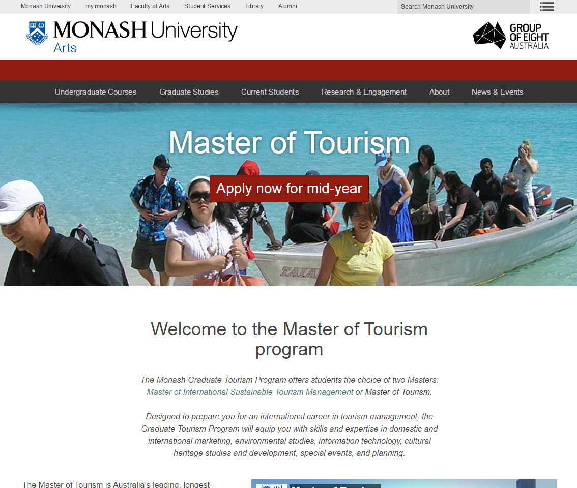 Master of Tourism